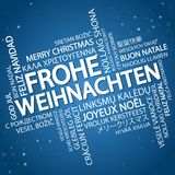 Word cloud Merry Christmas & x28;in German& x29; Stock Images