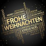 Word cloud Merry Christmas & x28;in German& x29; Royalty Free Stock Photos