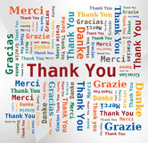 Word Cloud  - Thank You in 5 Languages Stock Images