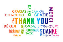Word cloud  - thank you - colorful Stock Images