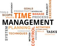 Word cloud - time management Royalty Free Stock Photo