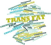 Word cloud for Trans fat Stock Image