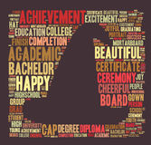 Word cloud - university. Word cloud for term university Royalty Free Stock Photo