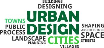 Word cloud - urban design. A word cloud of urban design related items royalty free illustration