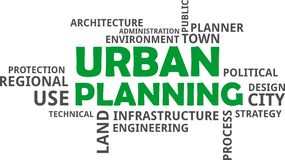Word cloud - urban planning. A word cloud of urban planning related items vector illustration