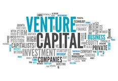 Word Cloud Venture Capital. Word Cloud with Venture Capital related tags Stock Photography