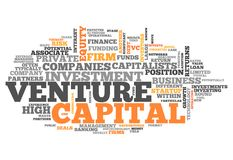 Word Cloud Venture Capital. Word Cloud with Venture Capital related tags Royalty Free Stock Photo