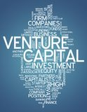 Word Cloud Venture Capital. Word Cloud with Venture Capital related tags Stock Images