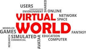Word cloud - virtual world Royalty Free Stock Photography