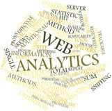 Word cloud for Web analytics. Abstract word cloud for Web analytics with related tags and terms Stock Photography