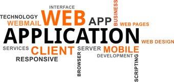 Word cloud - web application Stock Image