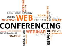Word cloud - web conferencing Stock Photography