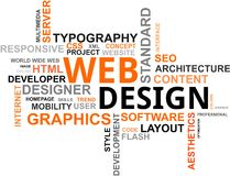 Word cloud - web design royalty free illustration