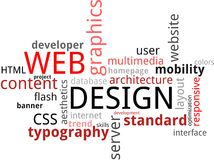 Word cloud - web design Stock Images
