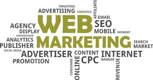 Word cloud - web marketing Stock Images