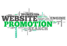 Word Cloud Website Promotion. Word Cloud with Website Promotion related tags Stock Photos