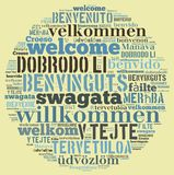 Word Cloud Welcome Stock Photo