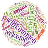 Word Cloud Welcome Royalty Free Stock Images