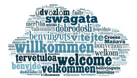 Word Cloud Welcome Royalty Free Stock Photos