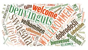 Word Cloud Welcome Royalty Free Stock Photography