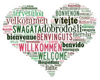 Word Cloud Welcome Stock Image