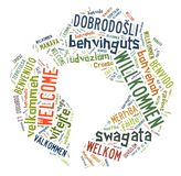 Word Cloud Welcome Stock Images