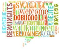 Word Cloud Welcome Stock Photography
