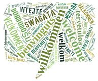Word Cloud Welcome Royalty Free Stock Image