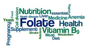 Word Cloud on a white background - Folate Stock Images