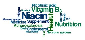 Word Cloud on a white background - Niacin Royalty Free Stock Image