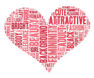 Word cloud - woman. Word cloud for woman in love curve Stock Images
