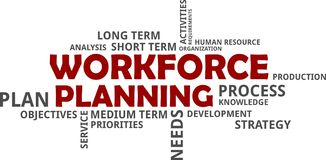 Word cloud - workforce planning Stock Image
