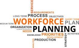 Word cloud - workforce planning Stock Images