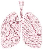 Word cloud World Tuberculosis Day related. Royalty Free Stock Photos