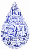 Word cloud World Water Day or water saving related Royalty Free Stock Images
