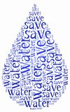 Word cloud World Water Day or water saving related Stock Photo