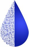 Word cloud World Water Day or water saving related Royalty Free Stock Image