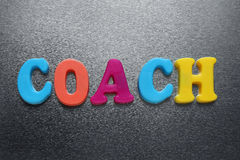 Word coach Stock Photo