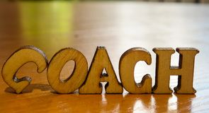 Word coach stock images