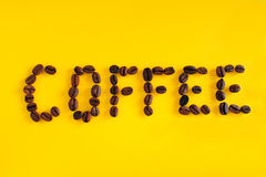 The word COFFEE Royalty Free Stock Images