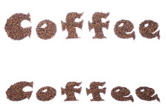 Word COFFEE Royalty Free Stock Photos