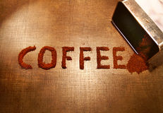 The word coffee Stock Photography