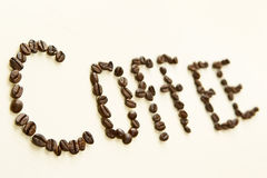 Word of coffee Royalty Free Stock Images