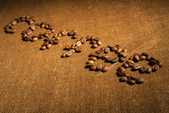 Word coffee made from coffee beans Royalty Free Stock Image