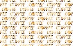 Word coffee seamless Royalty Free Stock Image