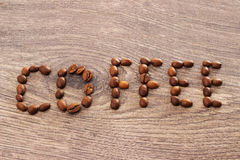 Word coffee Royalty Free Stock Images