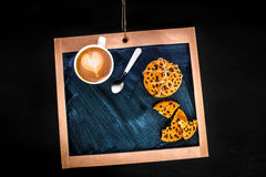 Word coffee written with coffee beans Stock Photos