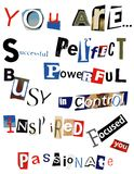 Word Collage Royalty Free Stock Photography