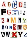 Word Collage A to Z Alphabet Stock Photos