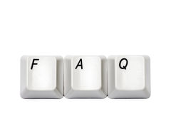 Word collected from computer keypad buttons FAQ isolated Stock Images